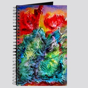 Cactus, colorful southwest desert art Journal