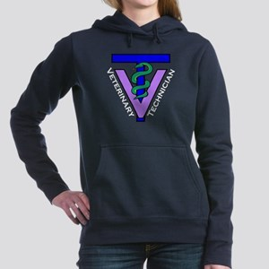Vet Tech logo, diagonal white text Women's Hooded