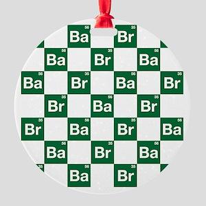 Breaking Bad Logo Pattern Round Ornament