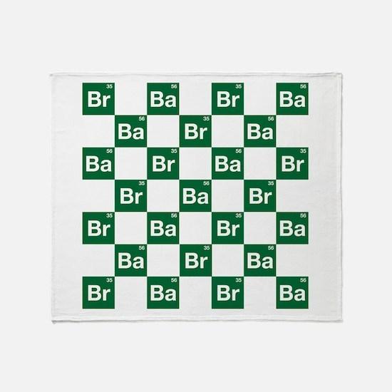 Breaking Bad Logo Pattern Throw Blanket