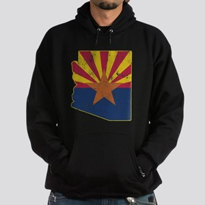 Vintage Arizona State Outline Flag Hoodie (dark)