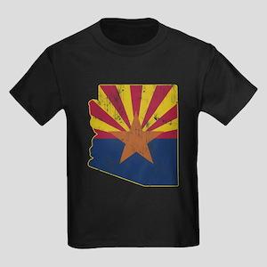 Vintage Arizona State Outline Fl Kids Dark T-Shirt