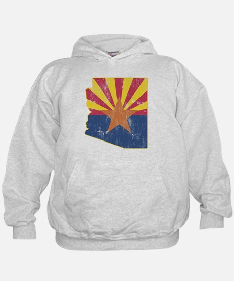 Vintage Arizona State Outline Flag Hoody