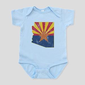 Vintage Arizona State Outline Flag Infant Bodysuit