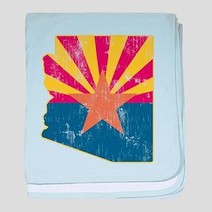Vintage Arizona State Outline Flag baby blanket