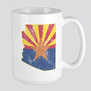 Vintage Arizona State Outline Flag Large Mug