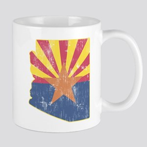 Vintage Arizona State Outline Flag Mug