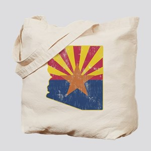 Vintage Arizona State Outline Flag Tote Bag