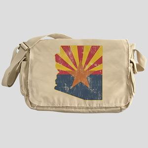 Vintage Arizona State Outline Flag Messenger Bag