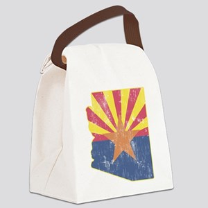 Vintage Arizona State Outline Fla Canvas Lunch Bag
