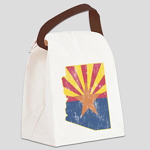 Vintage Arizona State Outline Fla Canvas Lunch Bag