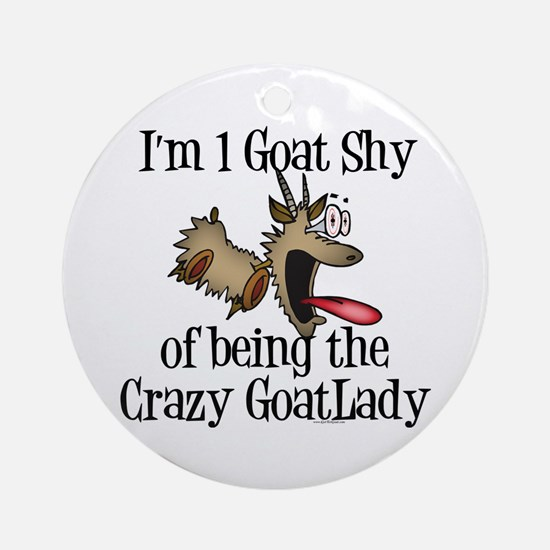 Crazy Goat Lady Ornament (Round)