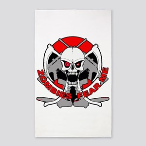 Zombies fear me r 3'x5' Area Rug