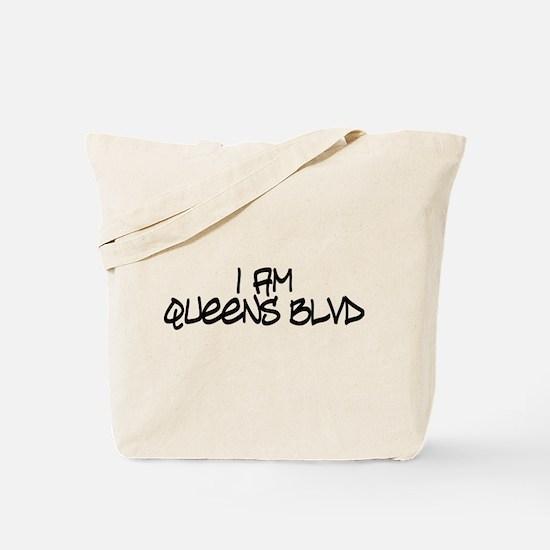 I am Queens Blvd 4 - Blk Tote Bag