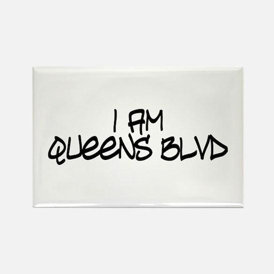 I am Queens Blvd 4 - Blk Rectangle Magnet