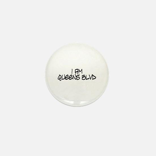 I am Queens Blvd 4 - Blk Mini Button