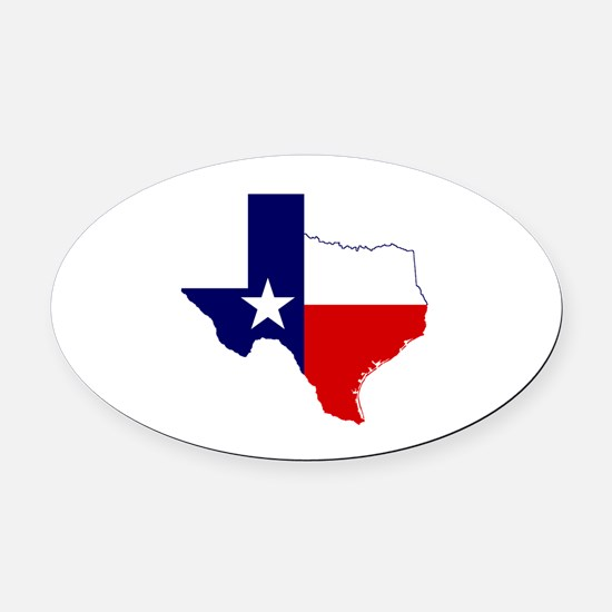 Great Texas Oval Car Magnet