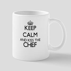 Keep calm and kiss the Chef Mugs