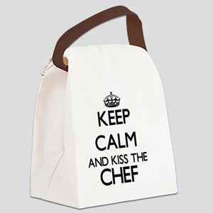 Keep calm and kiss the Chef Canvas Lunch Bag