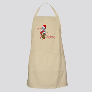 Merry Christmas Baby Goat in Stocking Apron