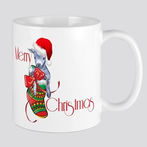 Merry Christmas Baby Goat in Stocking Mugs