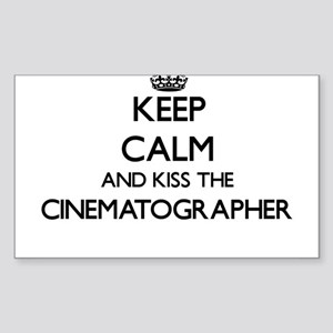 Keep calm and kiss the Cinematographer Sticker