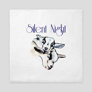 Baby Pygmy Goats Silent Night Queen Duvet