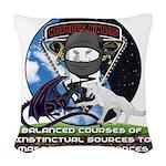 Natures Ninjas Defined Woven Throw Pillow