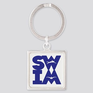 SWIM BLOCK Square Keychain