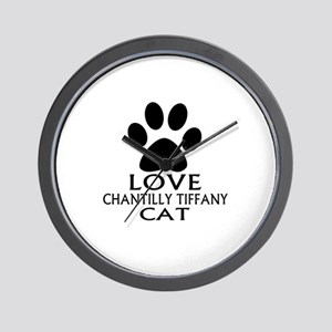Love Chantilly Tiffany Cat Designs Wall Clock