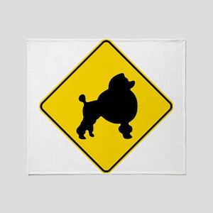 Poodle Crossing Throw Blanket