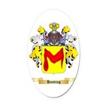 Hasting Oval Car Magnet