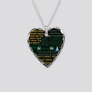 Walter White Quotes Necklace Heart Charm