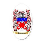 Haslewood Oval Car Magnet