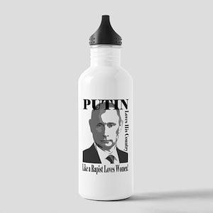 Putin Loves Country Rapist Water Bottle