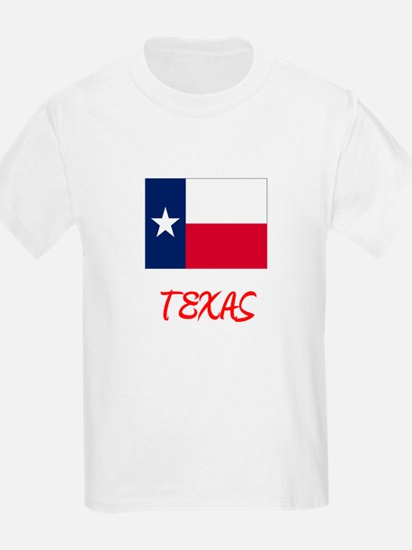 Texas Flag Artistic Red Design T-Shirt