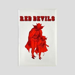 Red Devils Rectangle Magnet