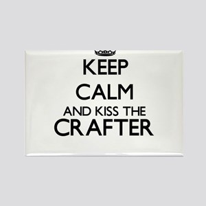 Keep calm and kiss the Crafter Magnets