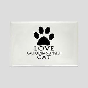 Love California Spangled Cat Desi Rectangle Magnet