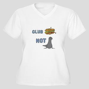 Club Sandwich, Not Seals Women's Plus Size V-Neck