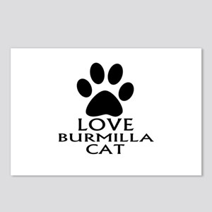 Love Burmilla Cat Design Postcards (Package of 8)