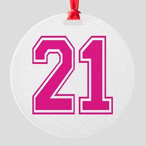 Varsity 21 Round Ornament