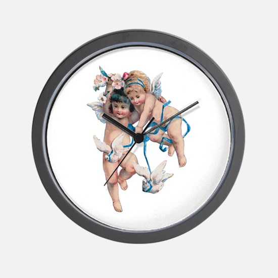 Angels of Peace Wall Clock