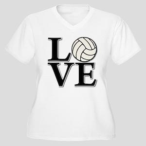 LOVE VB Women's Plus Size V-Neck T-Shirt