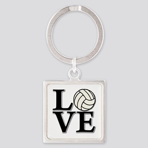 LOVE VB Square Keychain