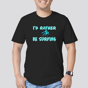 I'd rather be surfing Men's Fitted T-Shirt (dark)
