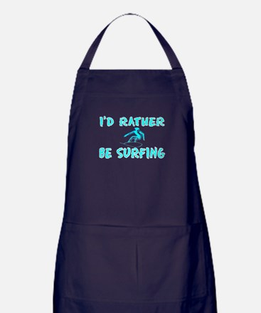 I'd rather be surfing - Apron (dark)