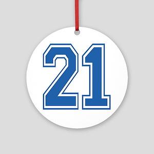Varsity 21 Ornament (Round)