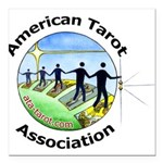 "Ata Square Car Magnet 3"" X 3"""