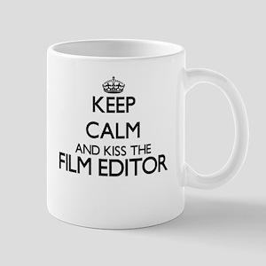Keep calm and kiss the Film Editor Mugs